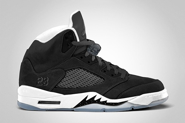 WMNS Air Jordan 5(V) Oreo Black Cool Grey White 136027-035 Womens Basketball Shoes