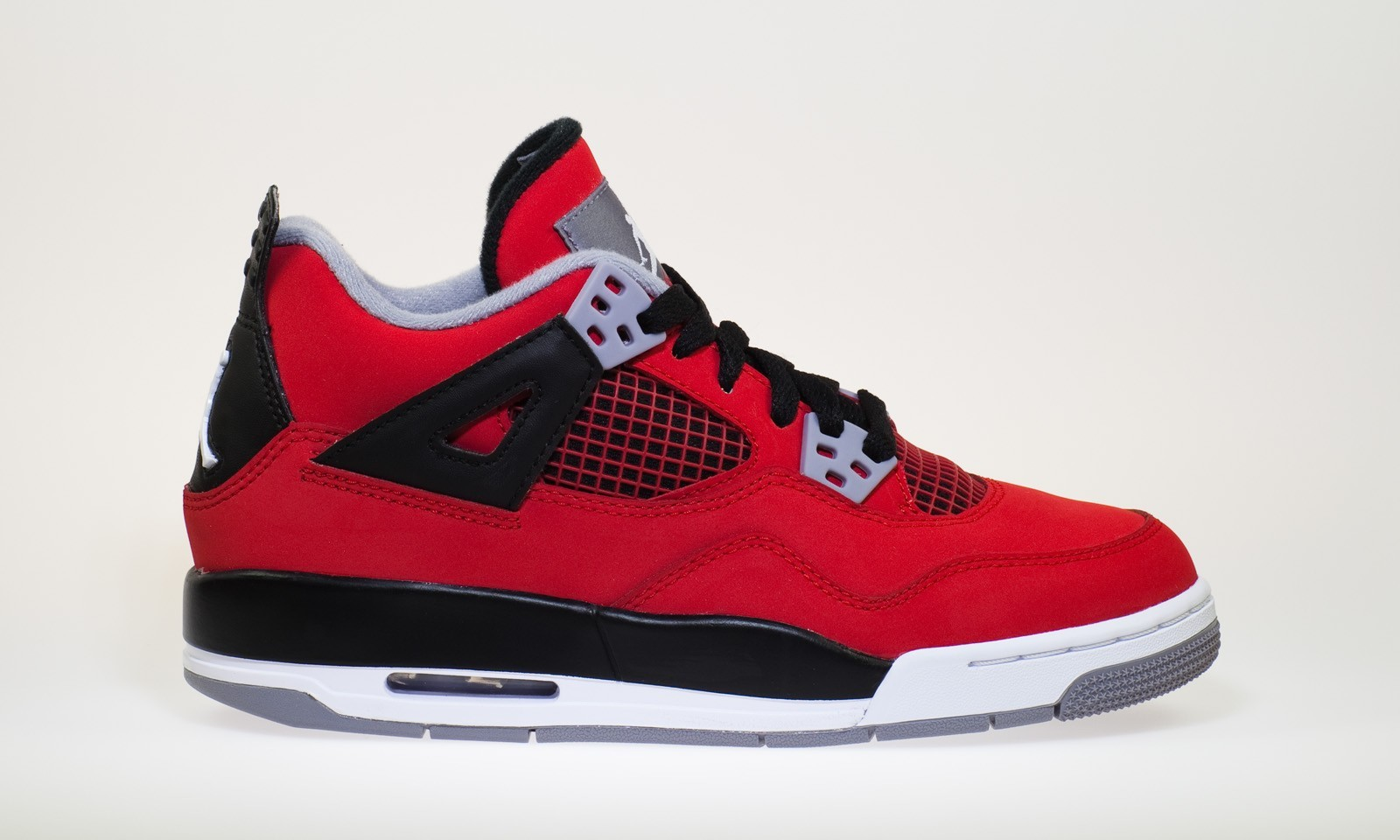 Air Jordan 4(IV) Retro - GS - Fire Red White Black Cement Grey Basketball Shoes 408452-603