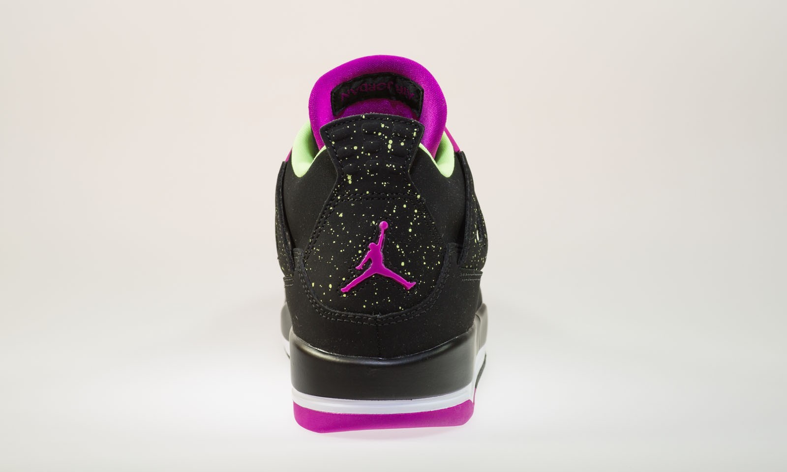 Air Jordan 4(IV) Retro 30th GG 'Fuchsia' - Girls' Black Fuchsia Flash LQD Basketball Shoes 705344-027