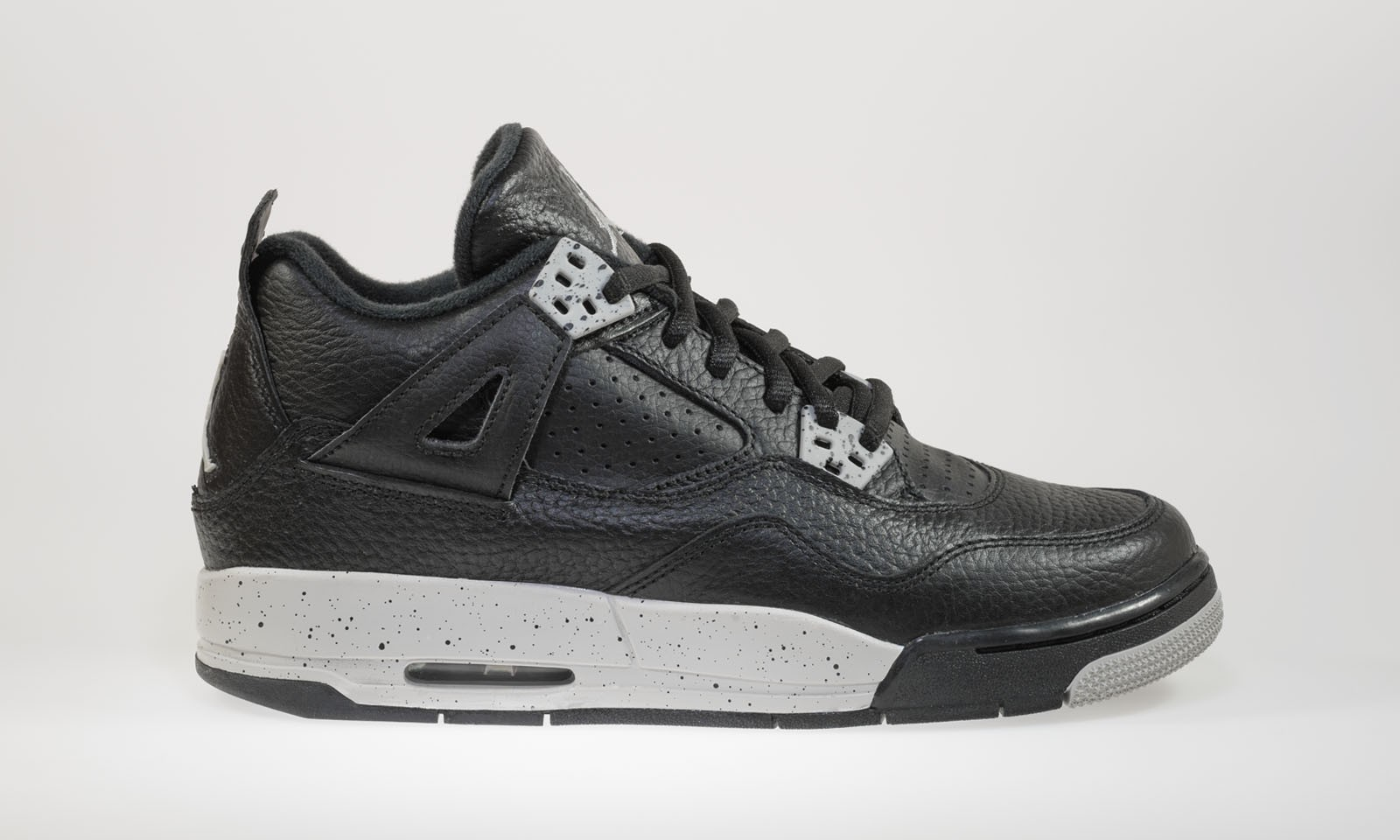 Air Jordan 4(IV) Retro BG 'Tech Grey' Boys' GS Black Tech Basketball Shoes 408452-003