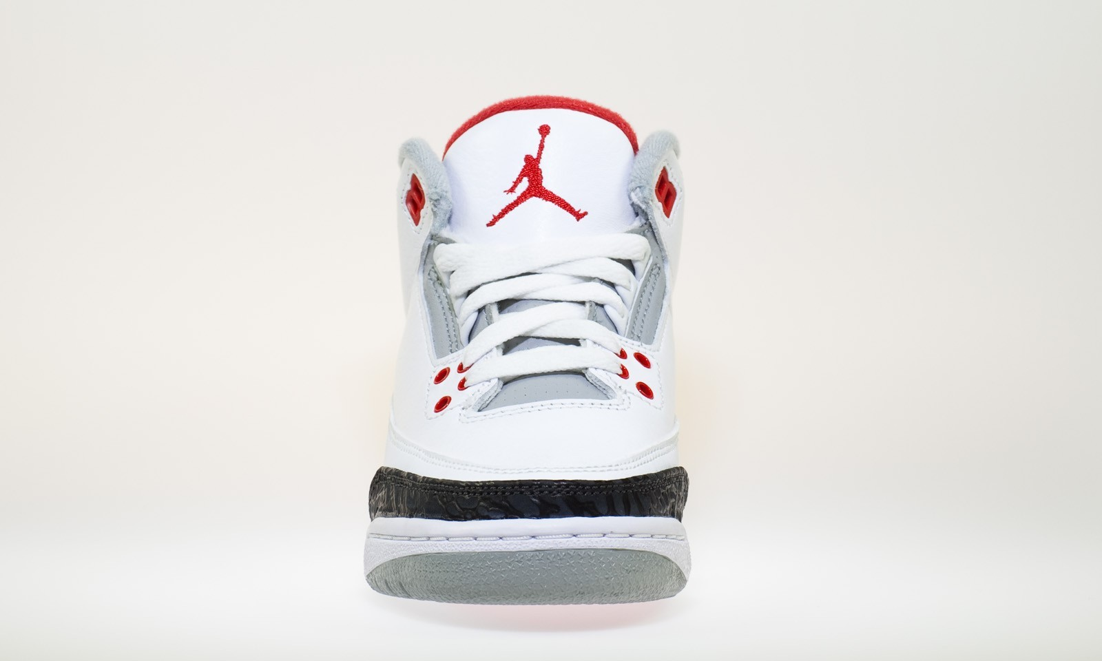 finest selection e9126 b0a79 ... Air Jordan 3(III) Retro - GS - White Fire Red Neutral Grey Black ...