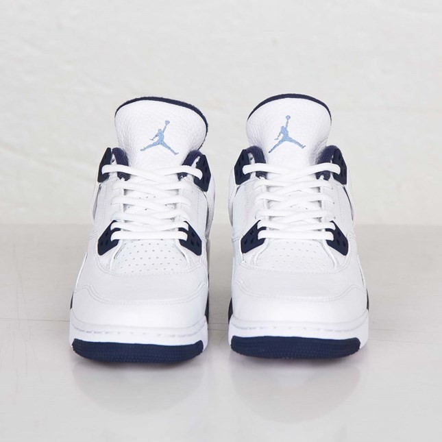 Air Jordan 4(IV) Retro - GS - White Legend Blue Midnight Navy Basketball Shoes 408452-107