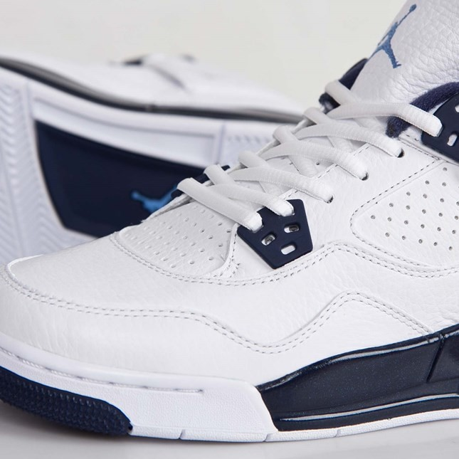 new arrival 01109 31951 ... Air Jordan 4(IV) Retro - GS - White Legend Blue Midnight Navy  Basketball ...