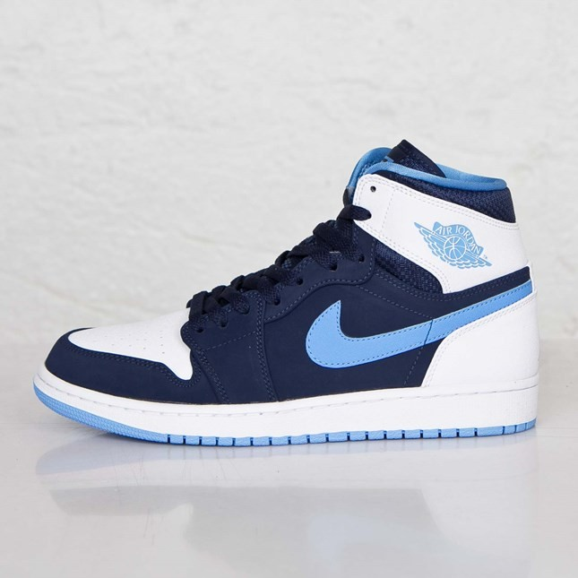 Air Jordan 1(I) Retro High Midnight Navy University Blue White 332550-402 Mens Shoes/Sneakers
