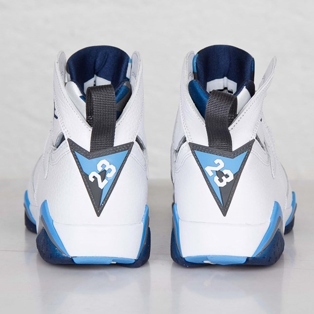 5dbc102457b740 Air Jordan 7(VII) Retro White French Blue University Blue Flint Grey Mens  Basketball Shoes for Sale 100 Authentic