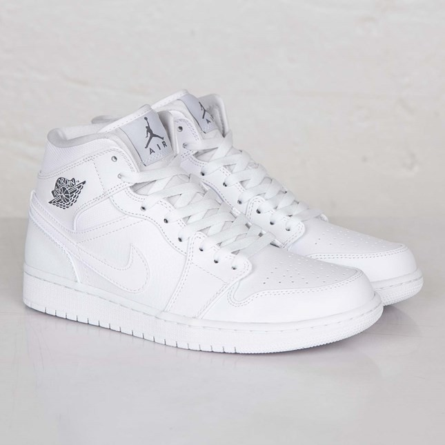 reputable site 21482 33ecd ... spain air jordan 1i mid white cool grey white 554724 102 mens shoes  625b2 4ad01
