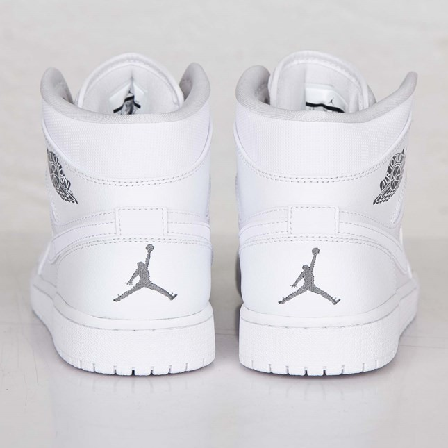 Air Jordan 1(I) Mid White Cool Grey White 554724-102 Mens Shoes/Sneakers