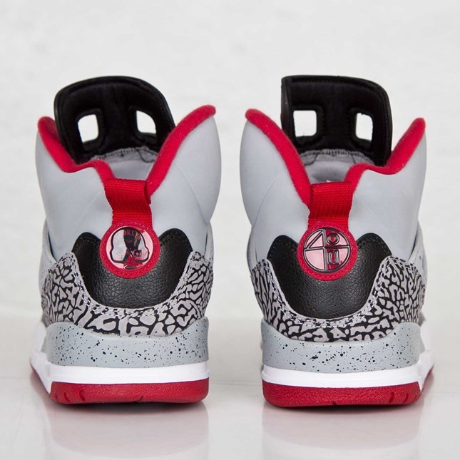 Jordan Spizike Wolf Grey Gym Red Black White 315371-003 Mens Basketball Shoes