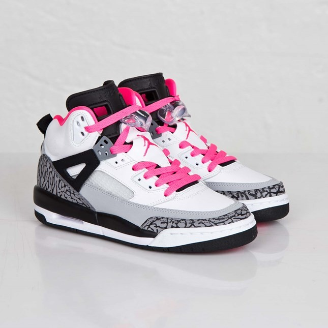 Jordan Spizike - GS - White Hyper Pink Black Cl Grey Basketball Shoes 535712-109