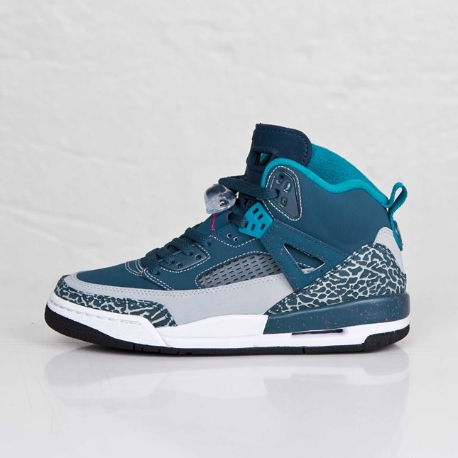 the best attitude 89e1e 56f94 Jordan Spizike - GS - Space Blue Fusion Pink Wolf Grey Tropical Teal  Basketball Shoes 317321