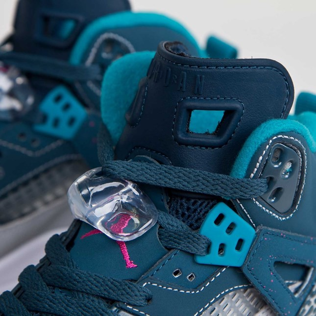 Jordan Spizike - GS - Space Blue Fusion Pink Wolf Grey Tropical Teal Basketball Shoes 317321-407
