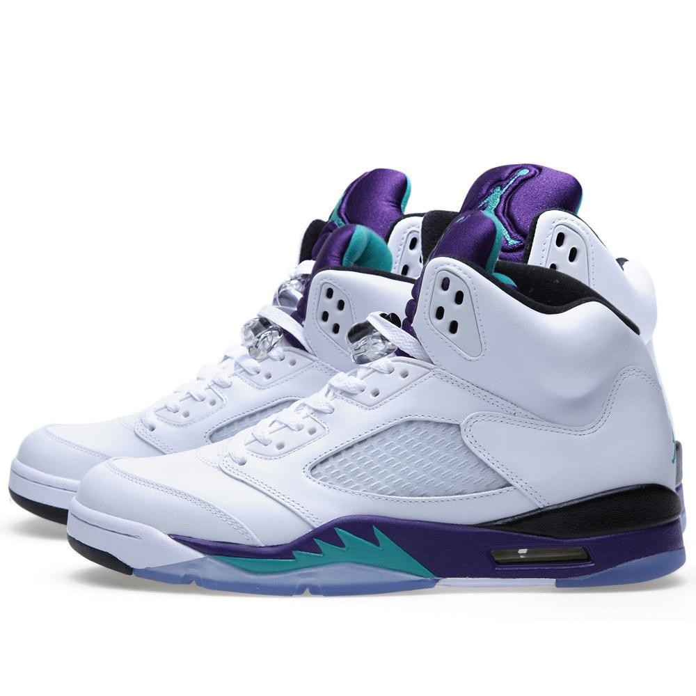 ... Air Jordan 5(V) Retro LS \u2013 Grapes \u0027White Grape\u0027 White New ...