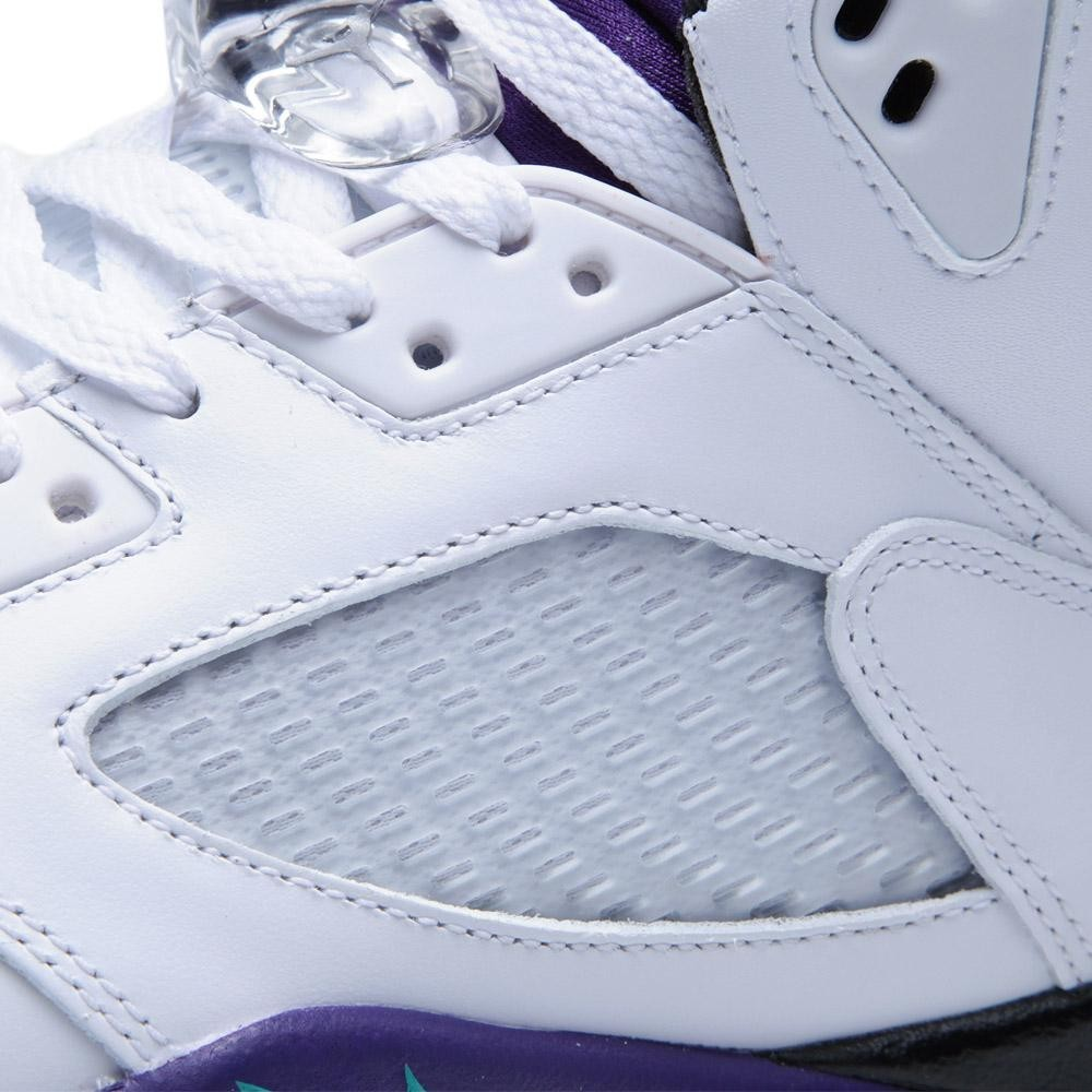 Air Jordan 5 Retro Grapes White Grape Ice New Emerald shoes