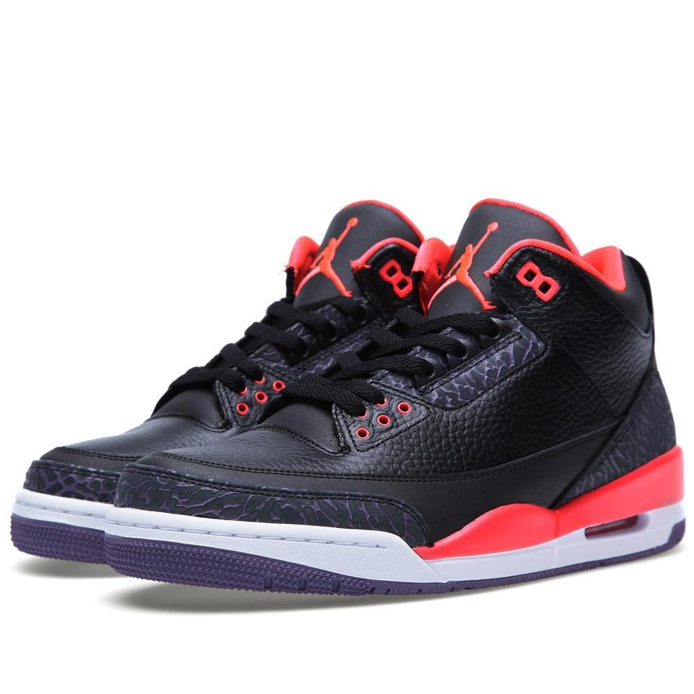 quality design 4e741 3119e ... air jordan 3(iii) retro black and bright crimson 136064 005 mens  basketball