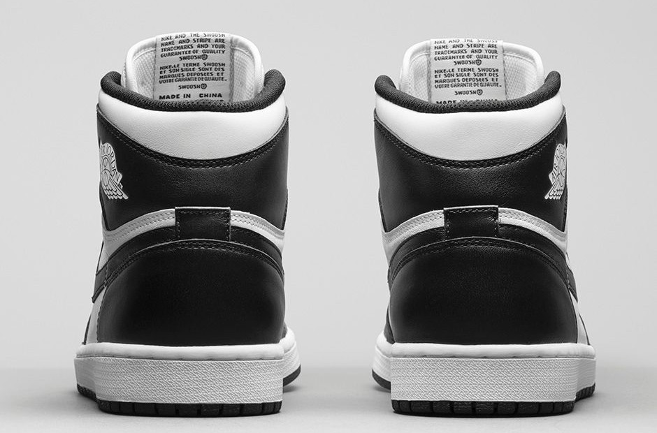 Air Jordan 1(I) Retro High OG Black and White 555088-010 Mens Shoes/Sneakers