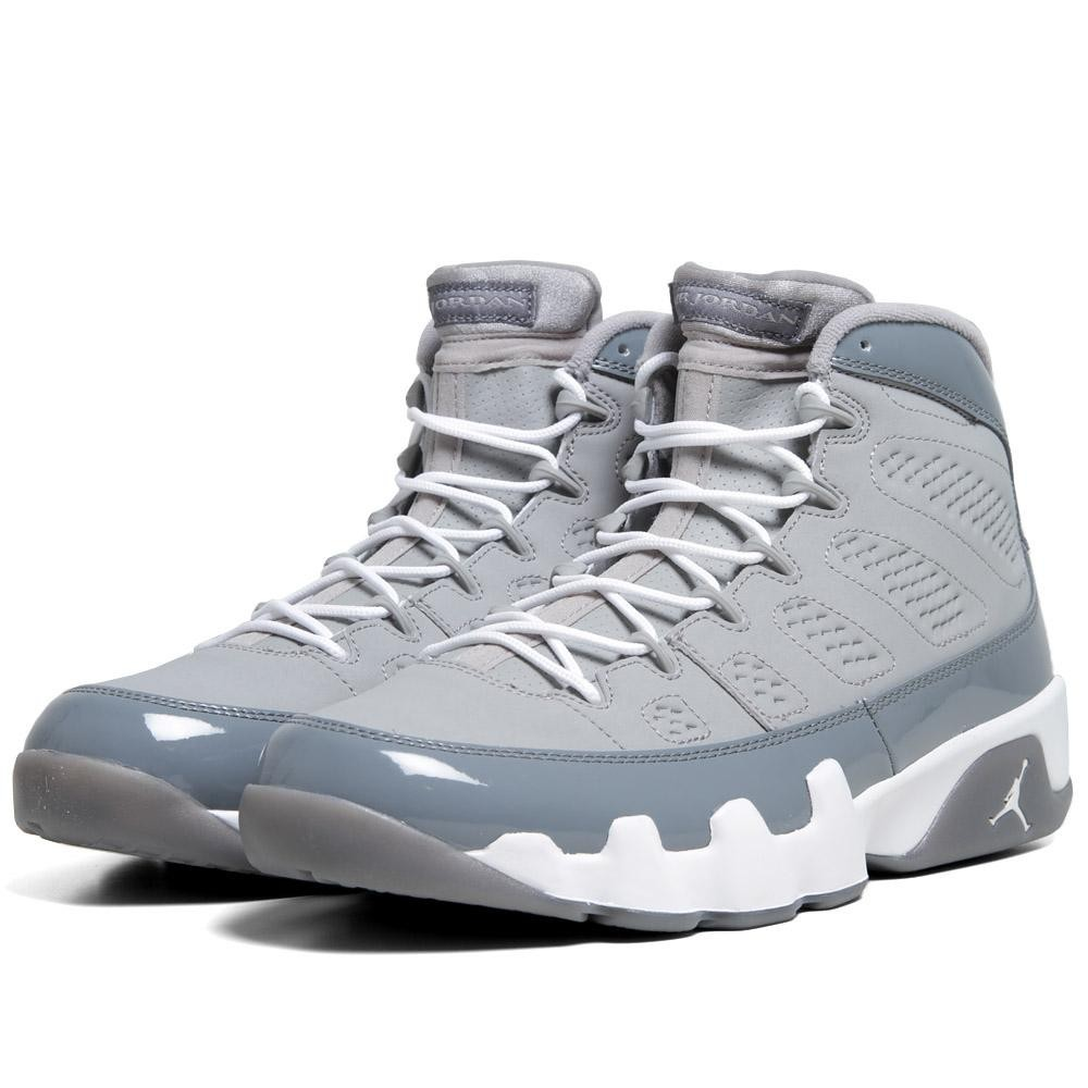 brand new 5e4b0 1e497 Air Jordan 9(IX) Retro Medium Grey White Cool Grey 302370-015 Mens