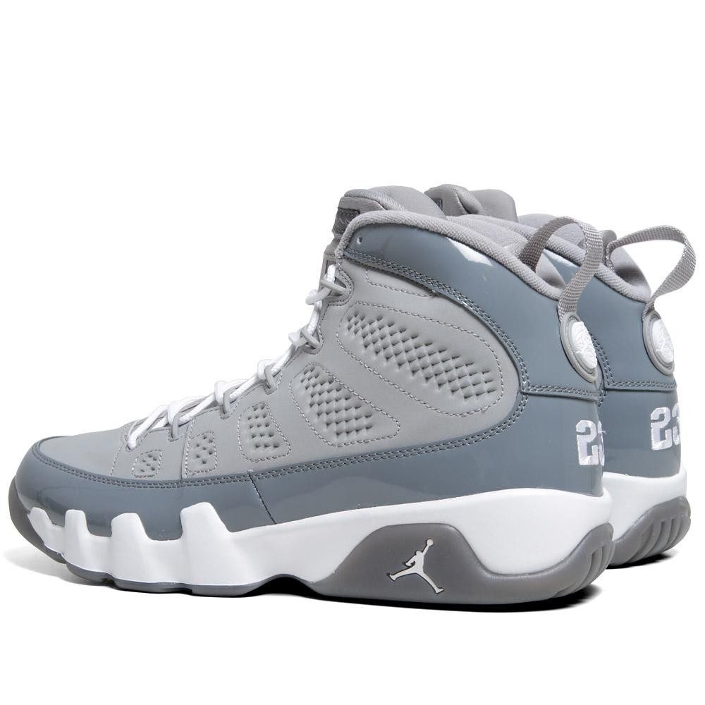 promo code 1067f e9835 ... Air Jordan 9(IX) Retro Medium Grey White Cool Grey 302370-015 Mens ...