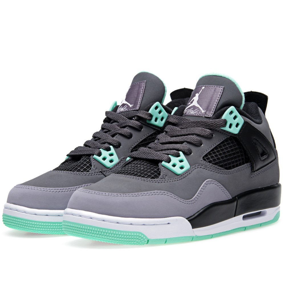 buy popular d8578 394c2 Air Jordan 4(IV) Retro  Green Glow  - GS - Dark Grey