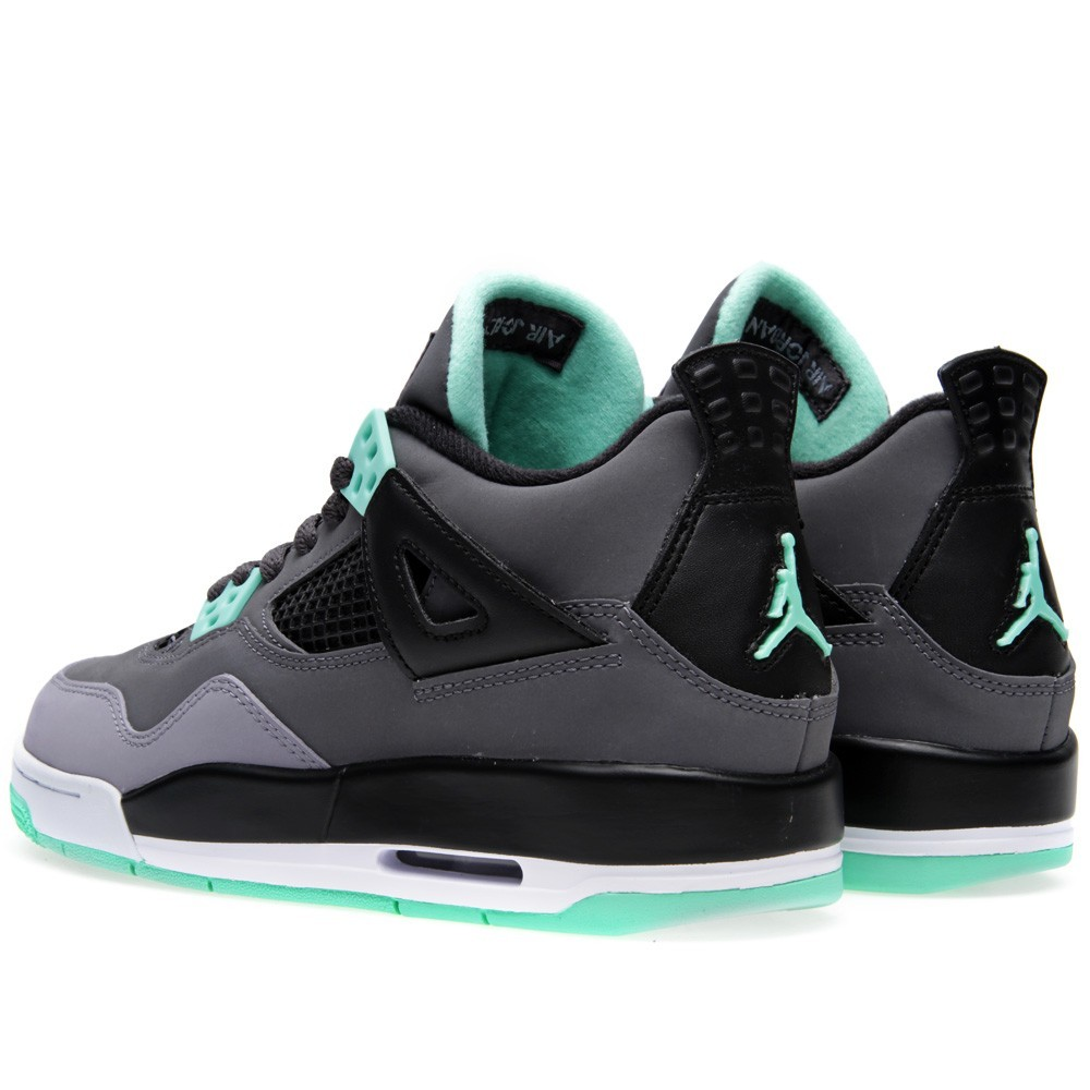 Air Jordan 4(IV) Retro 'Green Glow' - GS - Dark Grey Green Glow Basketball Shoes 408452-033