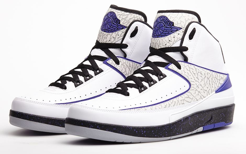 Air Jordan 2(II) Retro Dark Concord White Dark Concord Black 385475-153 Mens Shoes/Sneakers