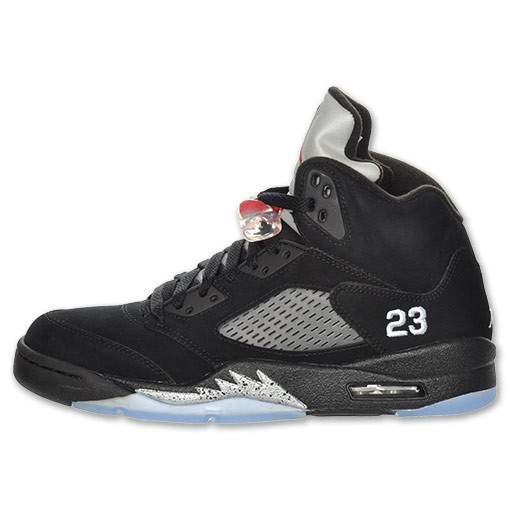 Air Jordan Retro 5(V) Black Varsity Red Metallic Silver 136027 010 Mens Basketball Shoes