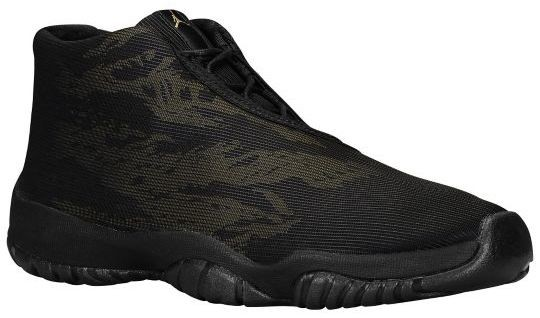 Air Jordan Future Print Black Black Metallic Gold 656503 035 Mens Shoes