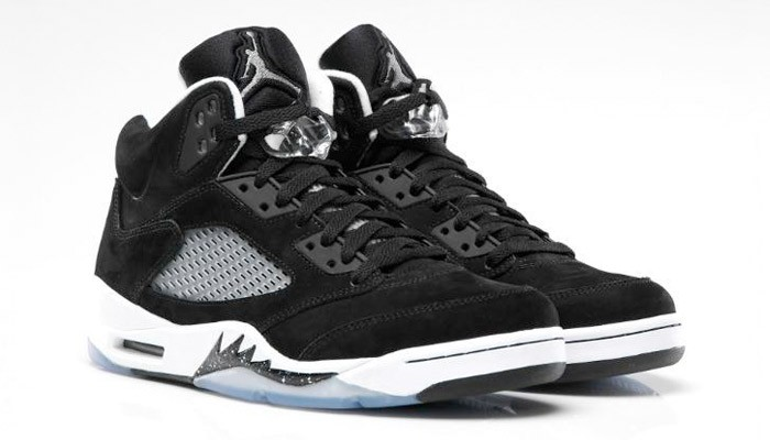 Air Jordan 5(V) Oreo Black Cool Grey White 136027-035 Mens Basketball Shoes