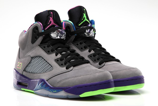 Air Jordan 5(V) Retro Bel-Air Cool Grey Court Purple Game Royal Club Pink 621958-090 Mens Basketball Shoes