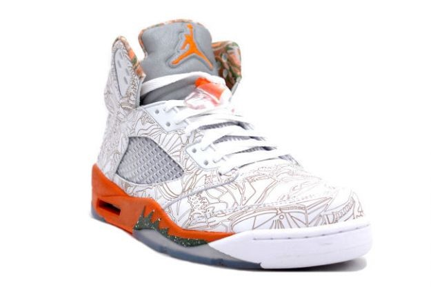 new styles 3afa2 0dfac ... Air Jordan 5(V) Retro RA - Laser White Army Olive Solar Orange Bison ...