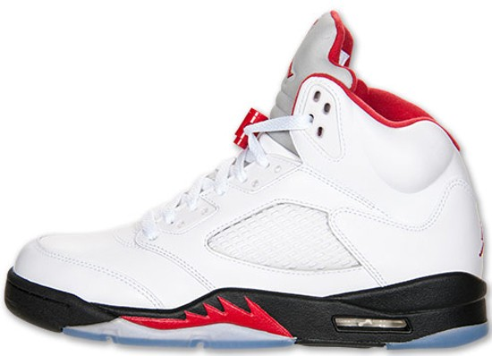low priced 19e42 0f020 ... Air Jordan 5(V) Retro Fire Red-Black OG White Fire Red Black ...