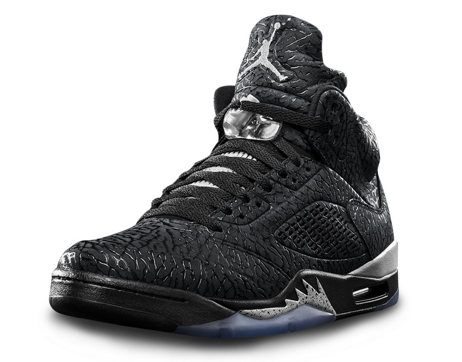 Air Jordan 3Lab5 Metallic Black Black Metallic Silver 599581-003 Mens Basketball Shoes