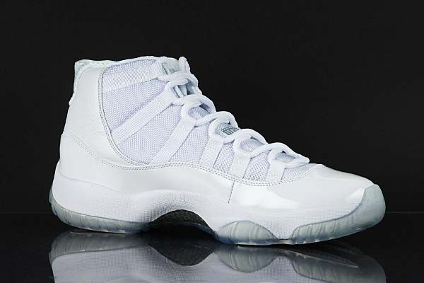 Air Jordan 11(XI) Retro Silver Anniversary White Metallic Silver 408201-101 Mens Basketball Shoes