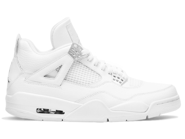 Air Jordan 4(IV) Retro Silver Anniversary White and Metallic Silver 408202-101 Mens Basketball Shoes