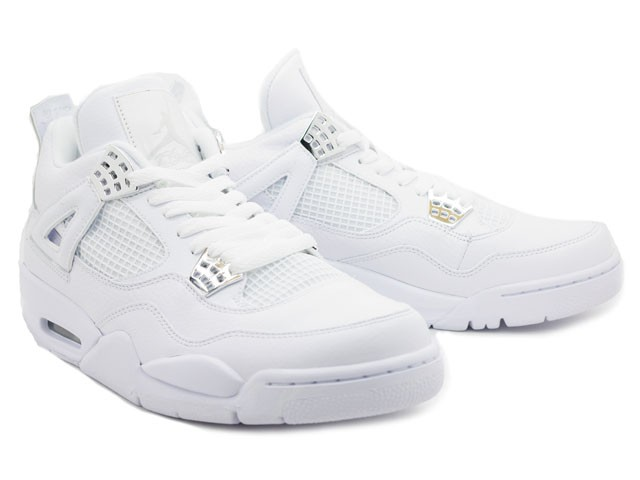 the latest 1fd8e 57d39 ... WMNS Air Jordan 4(IV) Retro Silver Anniversary White Metallic Silver  408202-101 ...