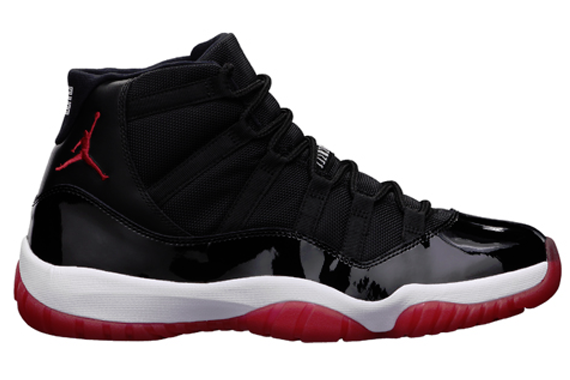 Air Jordan Retro 11(XI) Bred Black Varsity Red White 378037-010 Mens Basketball Shoes