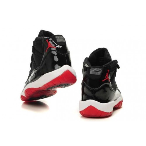 finest selection 531e5 267a7 ... Air Jordan Retro 11(XI) Bred Black Varsity Red White 378037-010 Mens ...