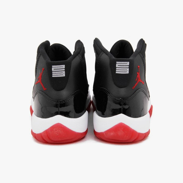 Air Jordan 11(XI) Retro (GS) Bred Black Varsity Red White Basketball Shoes 378038-010