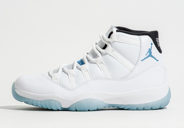 Air Jordan 11(XI) Retro Legend Blue/Columbia White Legend Blue Black 378037-117 Mens Basketball Shoes