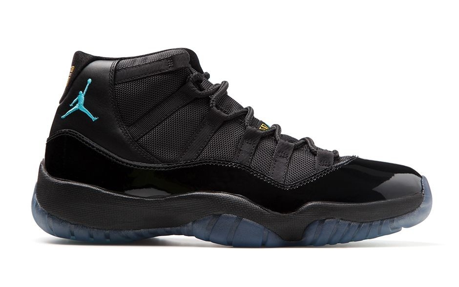 Air Jordan 11(XI) Retro Gamma Blue Black Gamma Blue Black Varsity Maize 378037-006 Mens Basketball Shoes