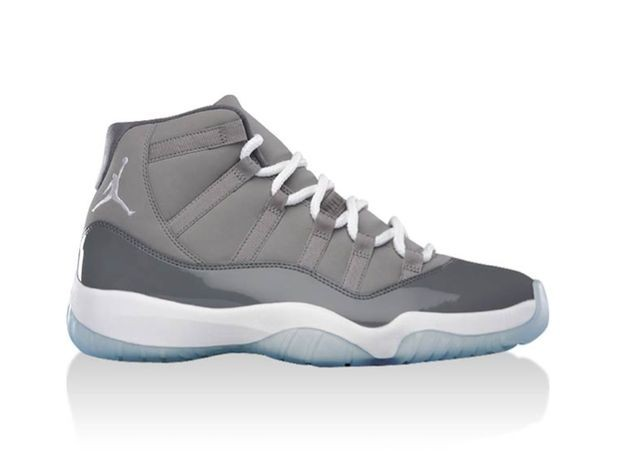 "Air Jordan 11(XI) Retro ""Cool Grey"" Medium Grey White Cool Grey 378037-001 Mens Basketball Shoes"