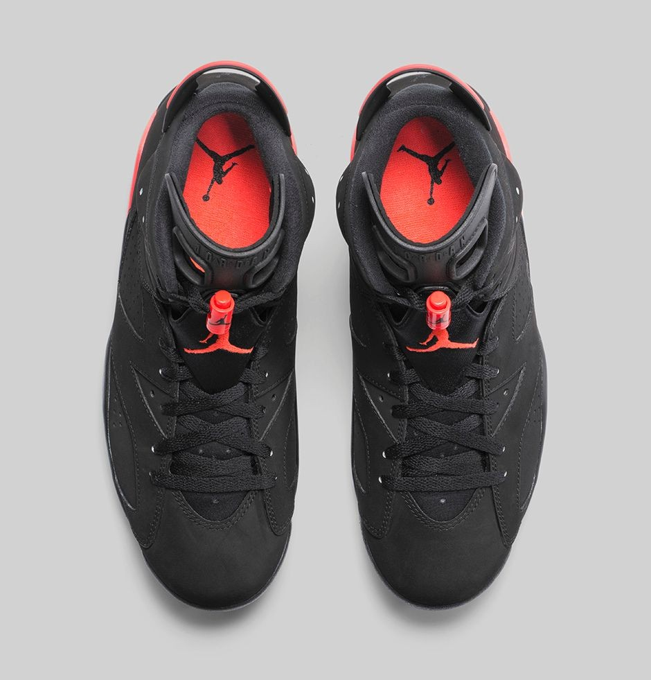 Air Jordan 6(VI) Retro 'Black/Infrared23' - GS - Black Infrared 23 Black Basketball Shoes 384664-023