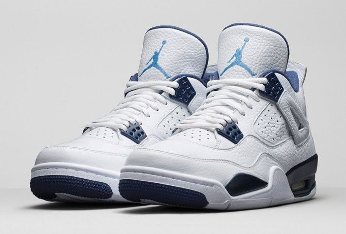 Air Jordan 4(IV) Columbia (2015 Restock) White Legend Blue Midnight Navy 314254-107 Mens Basketball Shoes