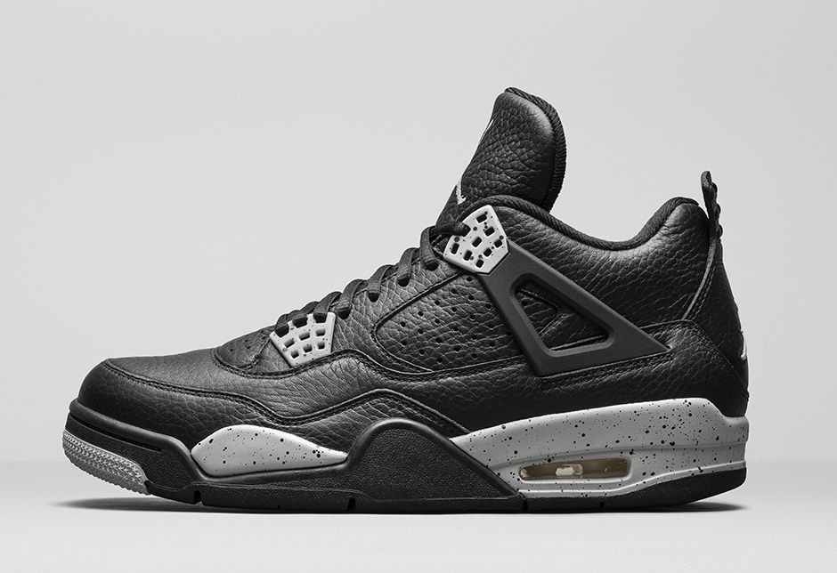 "WMNS Air Jordan 4(IV) Retro ""Oreo"" 2015 Black Tech Grey Black 314254-003 Womens Basketball Shoes"