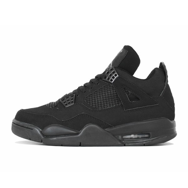 Air Jordan 4(IV) Retro Black Cat Black Black Light Graphite 308497-002 Mens Basketball Shoes