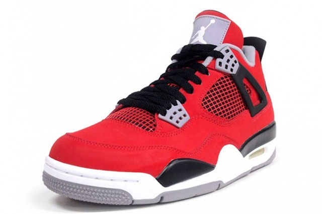 64055ca44137 ... WMNS Air Jordan 4(IV) Toro Bravo Fire Red White Cement Grey Black  Womens ...