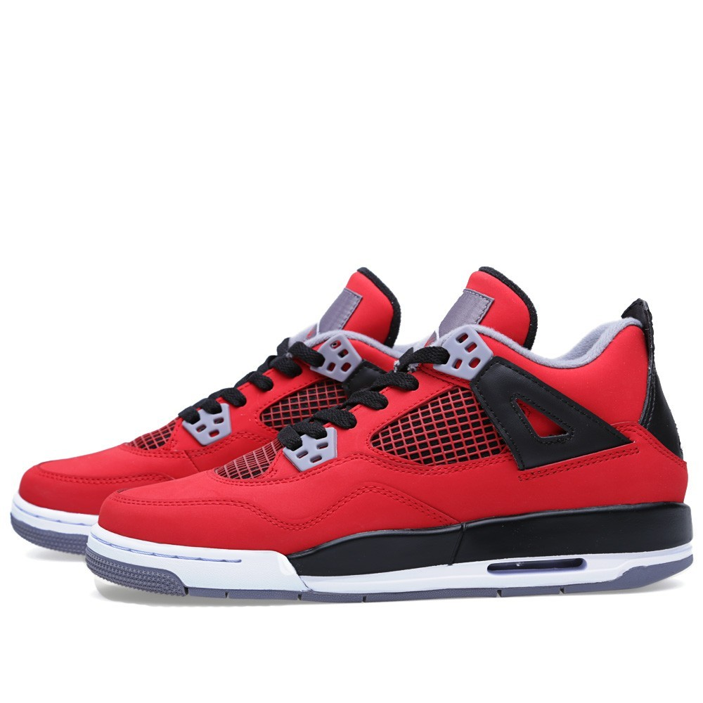 Air Jordan 4(IV) Retro 'Toro Bravo' - GS - Fire Red and White Basketball Shoes 408452-603