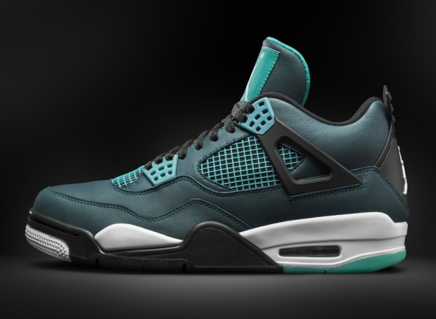 "WMNS Air Jordan 4(IV) ""Teal"" 2015 Teal White Black Retro 705331-330 Womens Basketball Shoes"