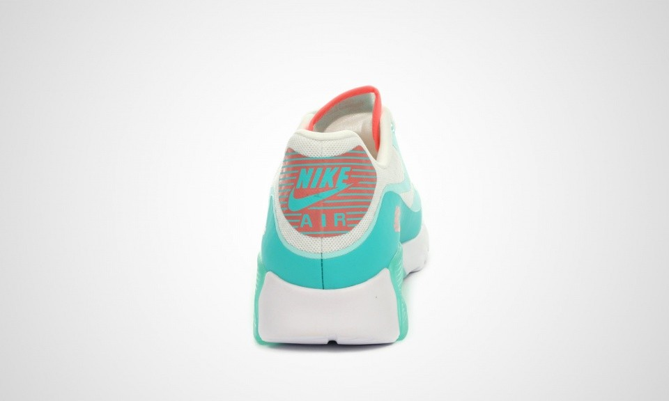 Womens Nike Air Max 90 Ultra BR (Breathe) White/Artisan Teal-Light Retro-Lava Glow 725061-103 Trainer