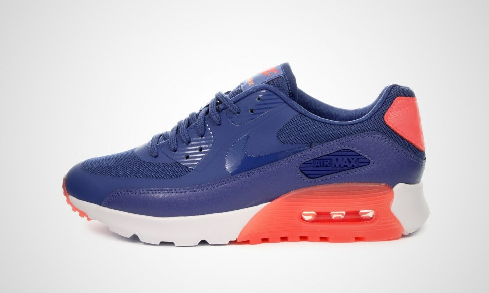 newest 73059 a59f0 Womens Nike Air Max 90 Ultra Essential Blue LegendHot LavaSunset Glow