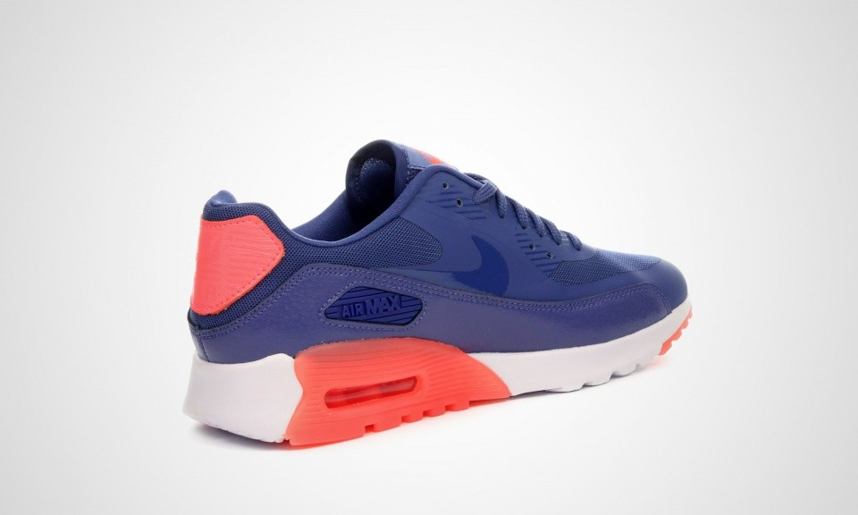 Womens Nike Air Max 90 Ultra Essential Blue Legend/Hot Lava/Sunset Glow/Blue Legend 724981-400 Casual Shoes